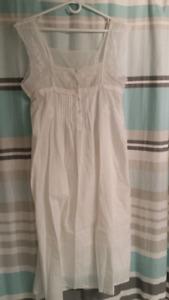White cotton nightgown kelowna