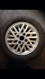Ford Escort 14 inch Cosworth style Alloy wheel & tyre.