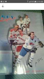 Guy Lafleur limited edition signed poster