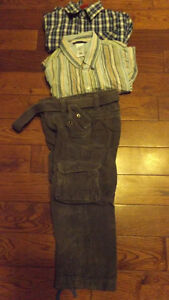 Boys Dress Pants & 2 Dress Shirts