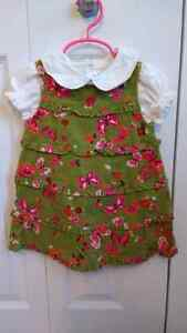 Girls size 12 month dress and blouse.