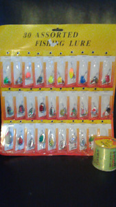 Fishing Lures Spinners. ( 30 ).  500m line.