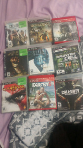 PS3 & PS4 games for sale