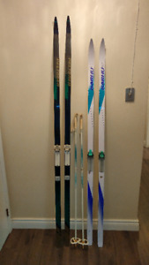 Cross Country Skis - 2 Sets