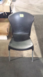 Plastic Dining Chairs x16