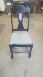 Refurbished antique dining chairs