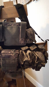 Army ACU Camo Plate Carrier & Pouches