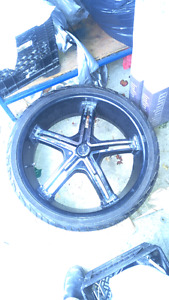 22 inch rims with rubber