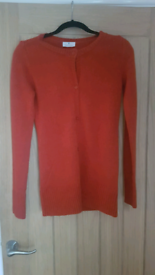 Orange cardigan uk size 10/12