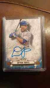 Devon Travis Autographed baseball card Kitchener / Waterloo Kitchener Area image 1