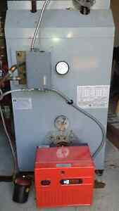 oil fired hot water boiler furnace. excellent condition.