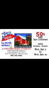 OUR APRIL DEAL has BUYER APPEAL!! at Country Barn Antiques!