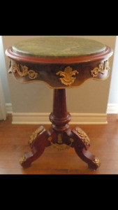 Pair of antique side tables