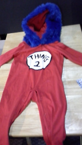 Dr. Seuss Thing 2 infant coveralls for 12 to 18 months
