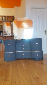 Distressed vintage upcycled dresser