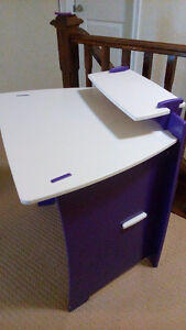 Small desk - purple and white