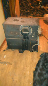 Two wood stoves