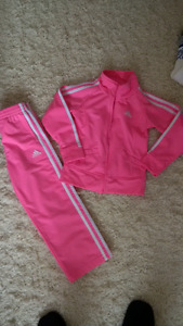 Pink Adidas Tracksuit Size 4/5