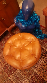 Ex.Cond Vintage Retro 60/70's Camel Tan vinyl SHERBORN designer stool