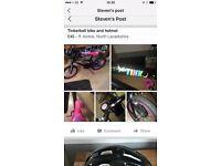 Tinkerbell bike with bell and Helmet. Bike
