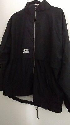Easton Vent - Easton Black Zip Up Windbreaker Warm up Jacket size L Oversized Vented Z9