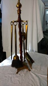 Antique Brass Fireplace Tool Set - REDUCED Kawartha Lakes Peterborough Area image 2