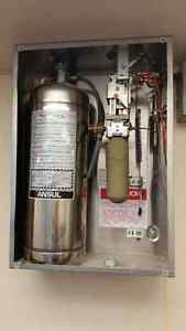 Commercial Kitchen Fire Suppression System and Exhaust Hood