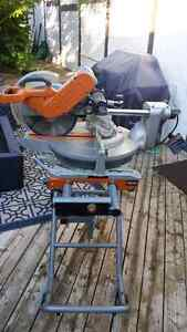 Ridgid 12 inch mitre saw dual bevel with stand Cambridge Kitchener Area image 2
