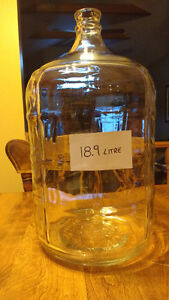 Beer Wine 2 glass carboys, $25 each for large (18.9 L & 20 L)