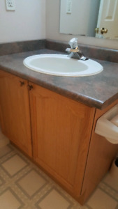 "30"" Vanity with sink and faucet"