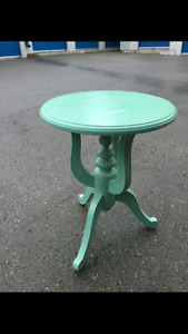 Turquoise wood colour side table