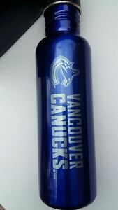 Vancouver Canucks NHL Hockey Stainless Licensed Water Bottle