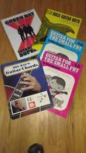 Various Guitar Sheet Music Books