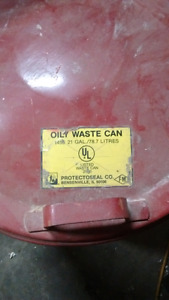 Oil waste can 21 gal. Protectoseal made in Canada