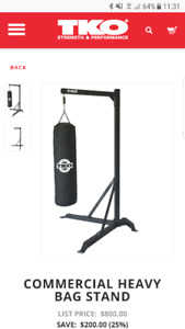 Heavy bag and commercial stand for sale