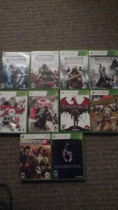 Xbox 360 controllers and games/ps4 games