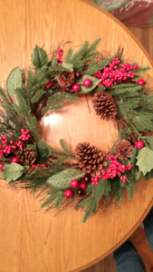 Christmas wreath - still has tag on