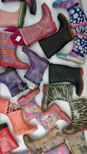 (181) Rain boots for girls from $5