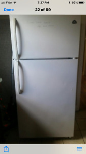 Refrigerator and Stove white.  (Used)
