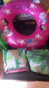 Dora Inflatable Tube with Tinkerbell Arm Floats Belleville Belleville Area image 1