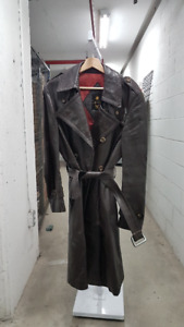 Leather Coat with removable lining