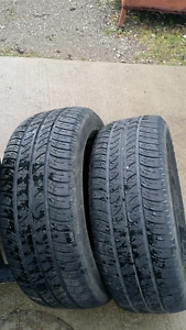 2 Cooper P225 60R 16 tires for sale
