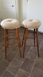 Wooden Stools (Set of 2) Peterborough Peterborough Area image 1