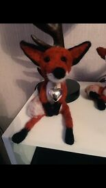 Fox ornament needle felted