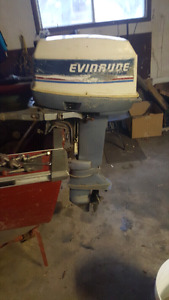 25hp short shft evinrude  outboat trade for ride on lawnmower
