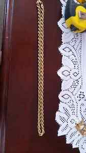 Mens 10k gold rope chain