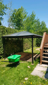 10x12 hard top gazebo - sun panels