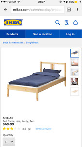 IKEA twin bed with mattress EXCELLENT CONDITION