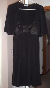 Brand New Black Dress with coverup
