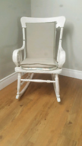 2 old antique rocking chairs.